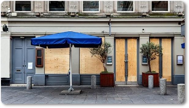 Bar cerrado en España